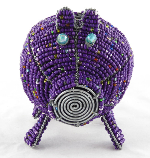Beaded Handmade Piggy Bank (You Choose Color)