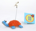 Turtle Beaded Photo Card Clip Mixed Colors