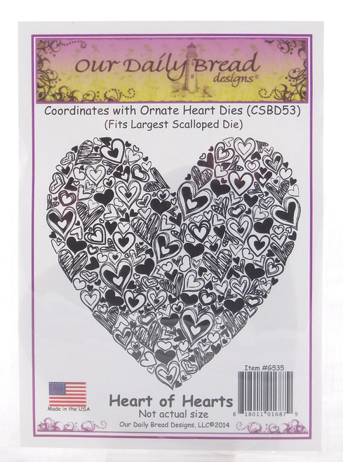 Heart of Hearts Cling Stamp Our Daily Bread