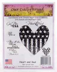 Heart and Soul Cling Stamp Collection Our Daily Bread
