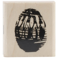 Easter Egg Mini Wood Mounted Rubber Stamp Penny Black