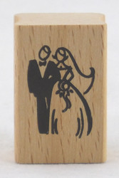 Wedding Couple Wood Mounted Rubber Stamp Stampendous