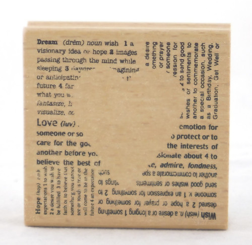 Cutout Heart Wood Mounted Rubber Stamp Stampendous