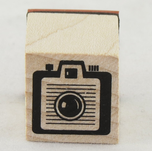 Box Camera Wood Mounted Rubber Stamp Inkadinkado