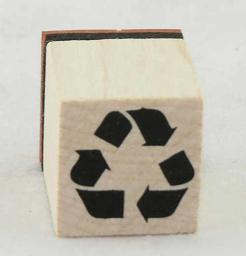 Recycle Symbol Wood Mounted Rubber Stamp Inkadinkado