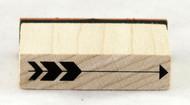 Long Arrow Wood Mounted Rubber Stamp Inkadinkado