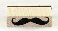 Long Mustache Wood Mounted Rubber Stamp Inkadinkado