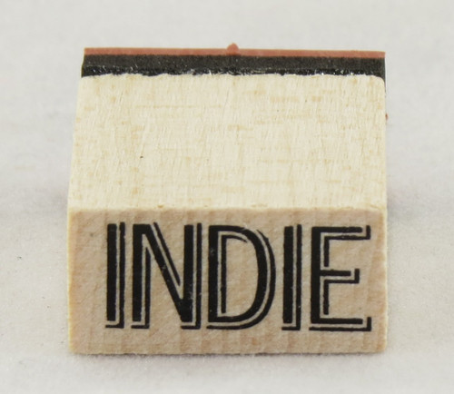 Indie Wood Mounted Rubber Stamp Inkadinkado