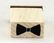 Bow Tie Wood Mounted Rubber Stamp Inkadinkado