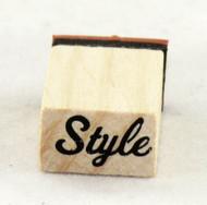 Style Script Wood Mounted Rubber Stamp Inkadinkado