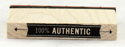 100% Authentic Wood Mounted Rubber Stamp Inkadinkado