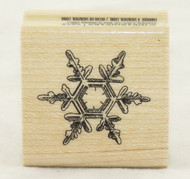 Snowflake Hexagram Wood Mounted Rubber Stamp Inkadinkado