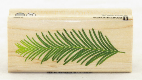 Pine Leaf Wood Mounted Rubber Stamp Inkadinkado