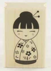 Japanese Doll #1 Wood Mounted Rubber Stamp Hero Arts