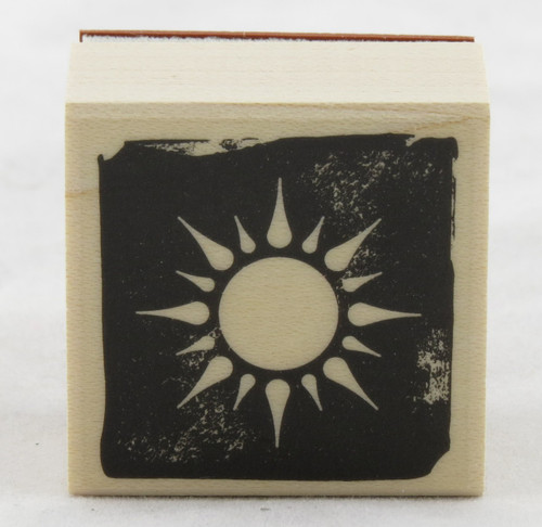 Sun Wood Mounted Rubber Stamp Hero Arts