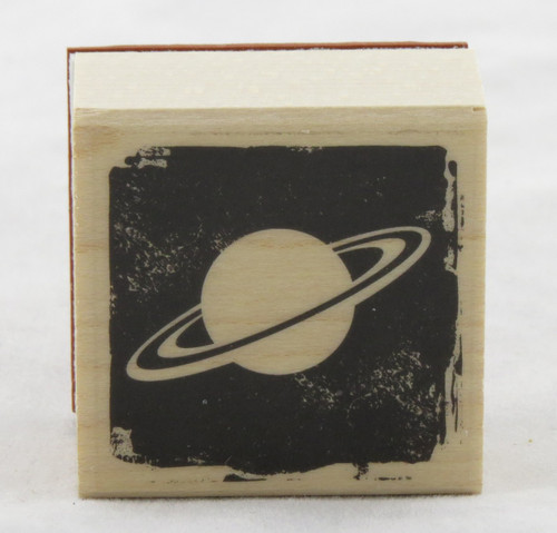 Planet Wood Mounted Rubber Stamp Hero Arts