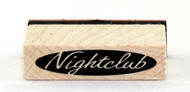 Nightclub Sign Wood Mounted Rubber Stamp Inkadinkado