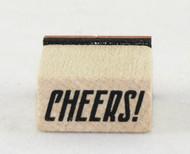 Cheers Wood Mounted Rubber Stamp Inkadinkado