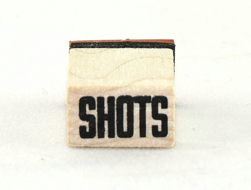 Shots Wood Mounted Rubber Stamp Inkadinkado