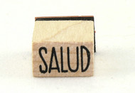 Salud Wood Mounted Rubber Stamp Inkadinkado