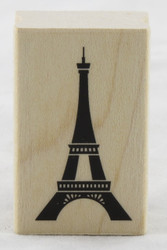 Eiffel Tower Wood Mounted Rubber Stamp Inkadinkado