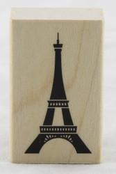 Eiffel Tower Wood Mounted Rubber Stamp Inkadinkado