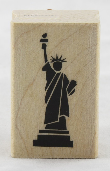 Statue of Liberty Wood Mounted Rubber Stamp Inkadinkado