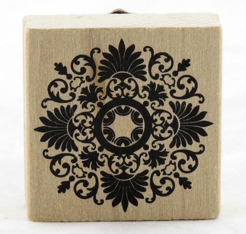 Medallion Flourish Wood Mounted Rubber Stamp Martha Stewart