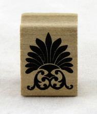 Fan Flourish Wood Mounted Rubber Stamp Martha Stewart