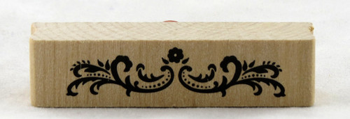 Dotted Border Flourish Wood Mounted Rubber Stamp Martha Stewart
