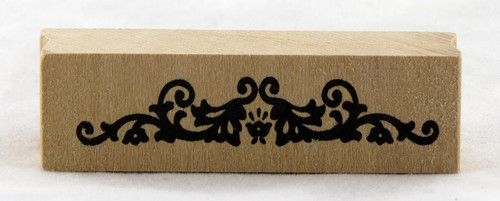 Solid Border Flourish Wood Mounted Rubber Stamp Martha Stewart