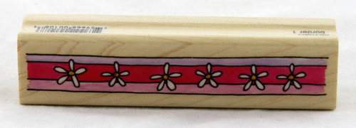Flower Border Wood Mounted Rubber Stamp Penny Black