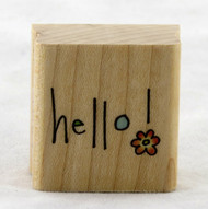 Hello Doodle Wood Mounted Rubber Stamp Penny Black