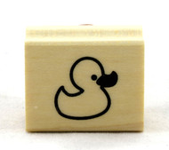 Rubber Ducky Wood Mounted Rubber Stamp Inkadinkado