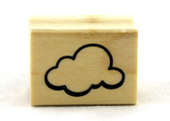 Cloud Wood Mounted Rubber Stamp Inkadinkado