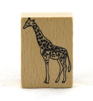 Giraffe Wood Mounted Rubber Stamp American Crafts