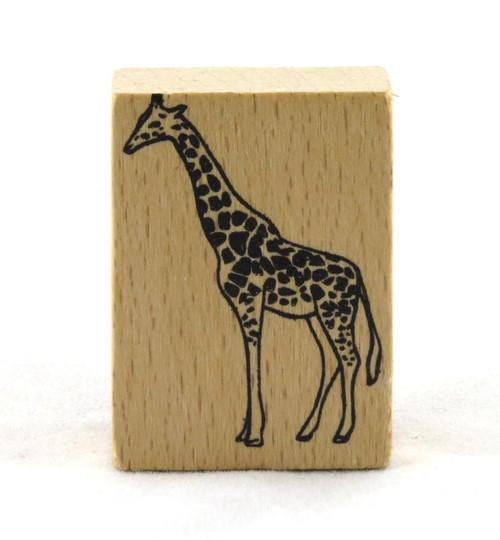Giraffe Wood Mounted Rubber Stamp American Crafts