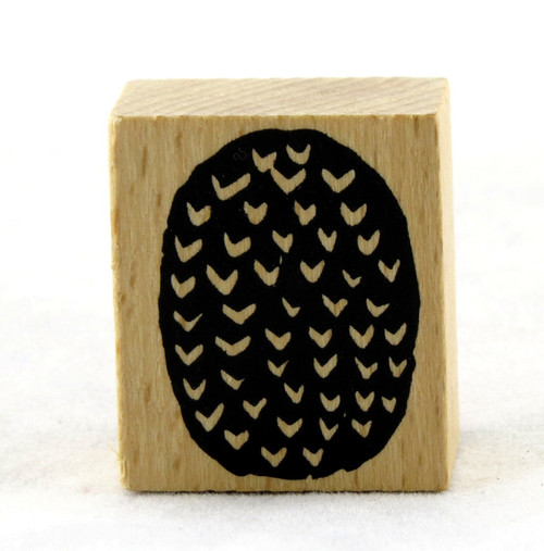 Pineapple Bottom Wood Mounted Rubber Stamp American Crafts