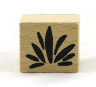 Leaf Bundle Wood Mounted Rubber Stamp American Crafts
