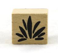 Leaf Bundle Wood Mounted Rubber Stamp American Crafts