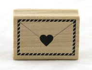Envelope & Heart Wood Mounted Rubber Stamp Martha Stewart