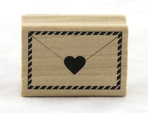 Envelope & Heart Wood Mounted Rubber Stamp Martha Stewart