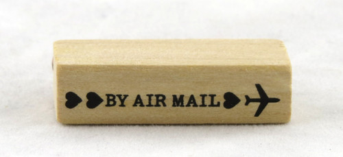 By Air Mail Wood Mounted Rubber Stamp Martha Stewart