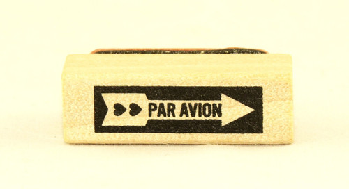 Par Avion Wood Mounted Rubber Stamp Martha Stewart