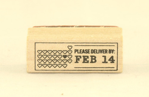 Deliver By Feb 14 Wood Mounted Rubber Stamp Martha Stewart