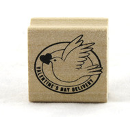 Valentine's Day Dove Wood Mounted Rubber Stamp Martha Stewart