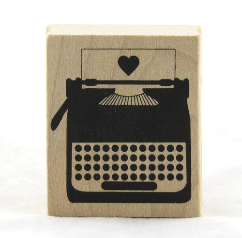 Typewriter Wood Mounted Rubber Stamp Martha Stewart