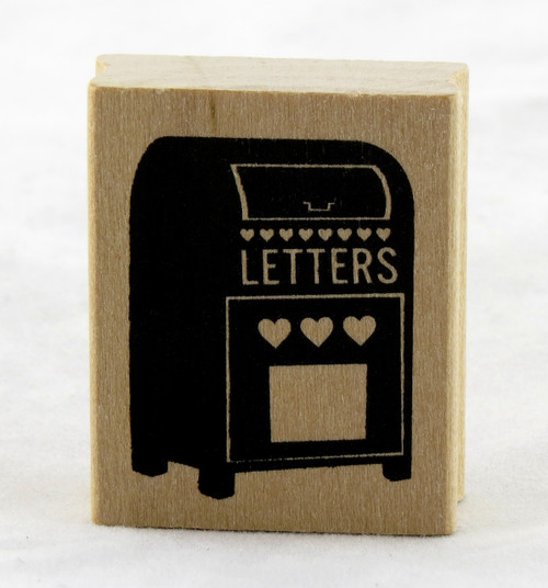 Letterbox Heart Wood Mounted Rubber Stamp Martha Stewart