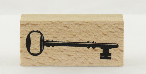 Key Wood Mounted Rubber Stamp Momenta