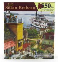Paddle Boat Landing 550 Piece Jigsaw Puzzle Susan Brabeau